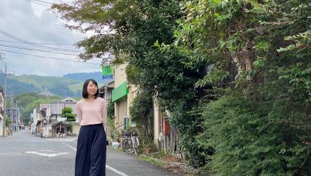 五十嵐さんの散歩風景